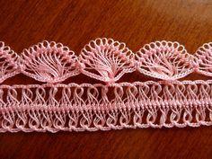 Turkish hairpin lace crochet. Bello, senza schema: solo rubare con gli occhi!