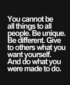 Be Unique Be Different - Inspirational Quote