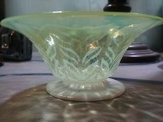 Neon Green L.C.Tiffany Favrile Art Glass Bowl by Arthur Nash Tiffany Studios c1910