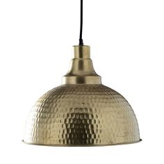 Create texture and style with your lighting and go bold with this exceptional Montagne Hammered Brass Pendant. A striking choice over a kitchen island or breakfast bar, this pendant offers a wide, inve...  Find the Montagne Hammered Brass Pendant, as seen in the Bohemian Meets Mid-Century Collection at http://dotandbo.com/collections/bohemian-meets-mid-century?utm_source=pinterest&utm_medium=organic&db_sku=102508