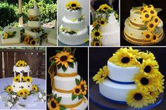 weddings with sunflowers ideas | Sunflower Wedding Cake Sunflower Wedding Cake