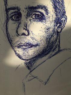 Kuulakärkikynätyö, mies 1.   Ink art, a man part 1.   IG @luma_portrait  #drawing #sketching #ink Media Marketing, Social Media, Drawing, Artwork, Work Of Art, Auguste Rodin Artwork, Sketches, Artworks, Social Networks