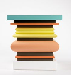 Gopuram (Coffee table in lacquered wood) by Ettore Sottsass