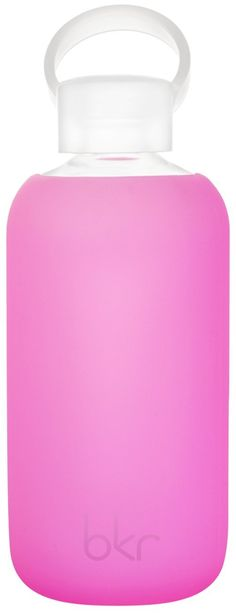 bkr® bottle : bubbly glass water bottle + soft silicone sleeve - 500ml