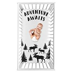 Perfect for your Baby and Nursery Sweet Jojo Designs Woodland Moose Boy Fitted Crib Sheet Baby or Toddler Bed Nursery Photo Op – Black and White Adventure Awaits Rustic Patch,Sweet Jojo Designs Woodland Moose Boy Fitted Crib Sheet Baby or Toddler Bed Nursery Photo Op - Black and White Adventure Awaits Rustic Patch, Dimensions: 52 in. x 28 in. x 8 in. Brushed Microfiber - Black and White...