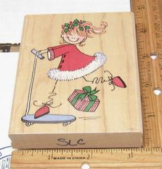 XMAS RIDE BY PENNY BLACK 2259K Rubber Stamp   #PennyBlack #RUBBERSTAMP