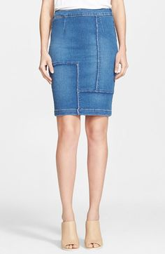 Frame Denim 'Le High Panel' High Waist Denim Pencil Skirt (Nordstrom Exclusive) available at #Nordstrom