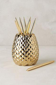 Pineapple Pencil Holder #anthropologie