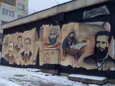 Amazing historically themed graffiti in Bulgaria