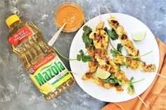Chicken Satay Skewers with Peanut Sauce - The Tasty Bite Chaldean Recipe, Fresco, Chicken Satay Skewers, Italian Baked Chicken, Spicy Peanut Sauce, Fish And Meat, Tasty Bites, Indian Food Recipes, Asian Recipes