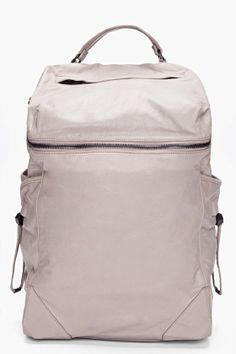 ALEXANDER WANG Grey Leather Wallie Backpack