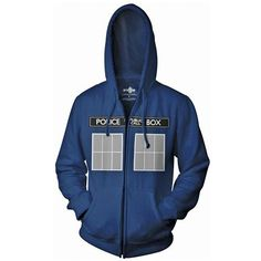 DOCTOR WHO TARDIS ZIP HOODIE...I NEED THIS!!!!