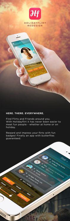 Holidayflirt App - Redesign on App Design Served
