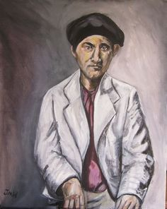 "Saatchi Art Artist Jack Michael Weinblatt; Painting, ""portrait of D B"" #art"