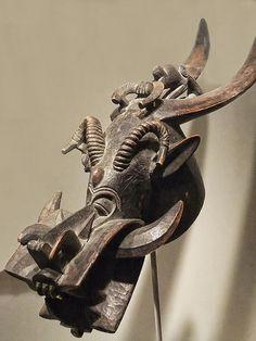 Mask (Kponyungo) Senufo Cote d'Ivoire Mid-19th-20th century Ce Wood
