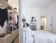How to build a closet in a room with no closet.