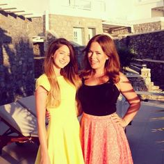 Zoella and Tanya Burr in Greece :)