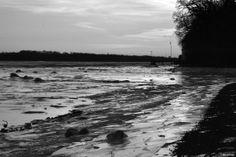 Frozen Delaware River at Low Tide