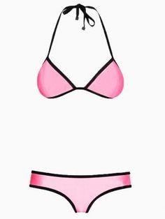 Shop Pink Halter Push Up Bikini from choies.com .Free shipping Worldwide.