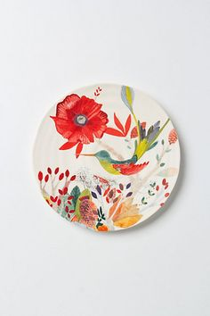 Gorgeous whimsical pattern from Anthropologie to add a splash of colour to the table.