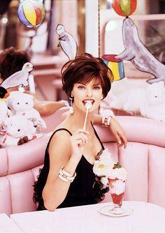 Linda Evangelista, Mad Tea Party - Fashion Editorial, Food and Fashion,