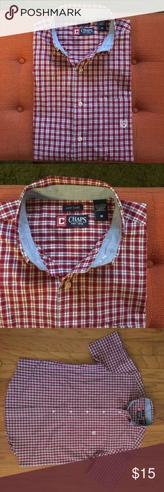CHAPS button up shirt Chaps plaid button up/ great condition / button down collar / plaid print Chaps Shirts Casual Button Down Shirts