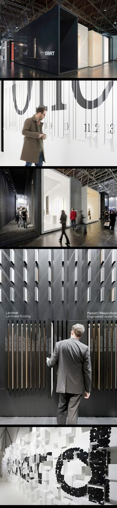 Fantastic applications of typography on varying surfaces by Düsseldorf-based D'art Design Gruppe (EuroShop 2011)