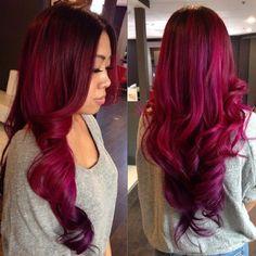 Pretty magenta hair