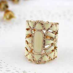 fabulous hollow out fashion ring beige bohemian by DesireJewelry, $14.50         Ilove it