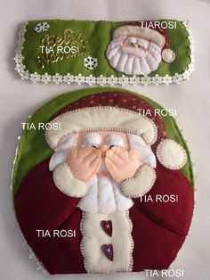 Christmas Santa bathroom set