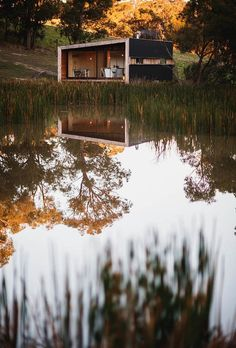 Pump House, Australia. A rustic, solar-powered weekend retreat outside Melbourne, Australia, designed with Branch Studio Architects and built by the one of owners (a carpenter) himself.