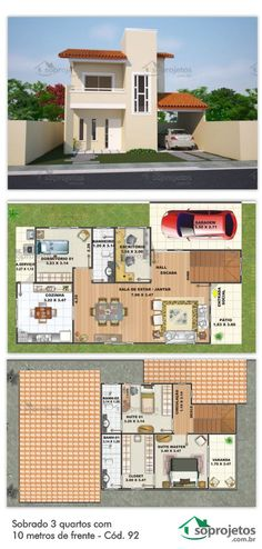 LxW = x or if the cars move to patio front but Dream House Plans, Modern House Plans, House Floor Plans, Small House Design, Dream Home Design, My Dream Home, Building Design, Building A House, House Map