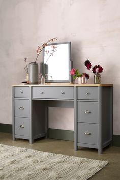 Dresser tables with mirrors Ikea Hanley Dressing Table Vinterior Dressing Tables Vanity Console Tables Dressers Next Dressing Room Decor, Bedroom Dressing Table, Dressing Table Design, Dressing Table Vanity, Dressing Tables, Dressing Table With Storage, Dressing Rooms, Hallway Furniture, Grey Furniture