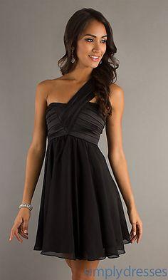 One Shoulder Cocktail Dress at SimplyDresses.com