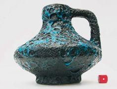 Jopeko Mid Century Modernist 70s Fat Lava West German Pottery Jug Vase 16cm in Pottery, Porcelain & Glass, Date-Lined Ceramics, 1960s/ 1970s   eBay