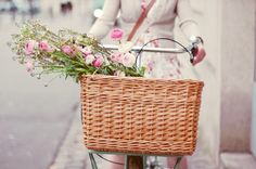 one day I will have a bike with a basket and ride to town to get my fresh produce & flowers. one day...