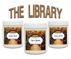 Handmade Scented Candles The Library Set - Includes Antique Books, New Books and Ancient Scrolls 鈥?203 x 4 ounce Soy Scented Candles Literary Gifts For Book Nerds