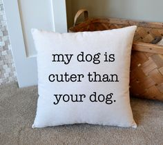 Canvas Pillow Gift for Pet Lover Home by JoaniesFavoriteThing