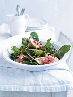 haloumi, fig and pomegranate salad