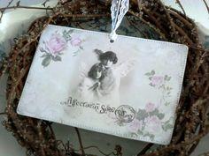 Karte Dekokarte Engel von White Roses auf DaWanda.com