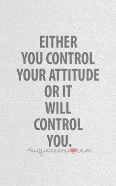 Ή ελέγχεις την συμπεριφορά σου ή σε ελέγχει αυτή