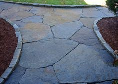 Goshen stone with tight joints, raised edge