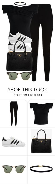 """Style #10971"" by vany-alvarado ❤ liked on Polyvore featuring Givenchy, Chicwish, adidas Originals, Prada and Ray-Ban"