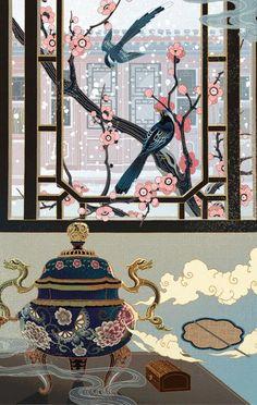Animated gif in Gifs 💗 collection by Liliana Elias Mass Pinkylil Korean Art, Asian Art, Graphic Design Illustration, Illustration Art, Gifs, Japanese Art Modern, Art Portfolio, Botanical Art, Chinese Art
