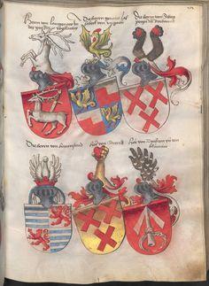 Grünenberg, Konrad: Das Wappenbuch Conrads von Grünenberg, Ritters und Bürgers zu Constanz um 1480 Cgm 145 Folio 218