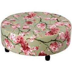 Add a sophisticated touch of style to your home with this chic accent, perfect as a finishing touch to your den, living room, or library d�cor. Product: Ottoman Construction Material: Wood and fabricColor: CherryFeatures: Will enhance any spaceDimensions: 14 H x 36 DiameterShipping: This item ships small parcelExpected Arrival Date: Between 04/19/2013 and 04/27/2013Return Policy: This item is final sale and cannot be returned