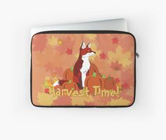 Harvest Time! Laptop Sleeve #fox #autumn #fall #harvest #thanksgiving
