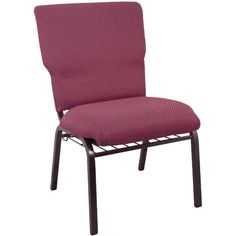 "21"""" Wide Burgundy Pattern Church Chairs [EPCHT-100]"