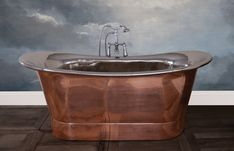 Jig Baths Hurlingham Collection Normandy Copper Bath - Bathrooms from Period Property Store UK Copper Interior, Interior And Exterior, Copper Roll, Tap System, Cast Iron Bath, Copper Bath, Heating And Plumbing, Roll Top Bath, Copper Accents
