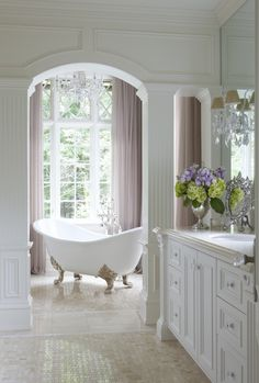 This is a bath designed by Anthony Como that I styled and that was photographed by Michael Partenio for the magazine. Here are a few of our pics and what you saw in print. You can see more of Anthony's work on Houzz.